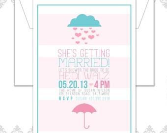 Hearts Umbrella Shower Invite