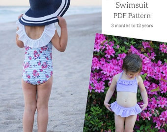 Children's Mairin Swimsuit PDF Sewing Pattern