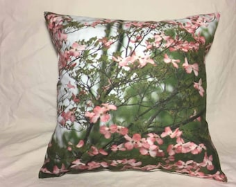 Flowering Tree Photo Pillow Cover