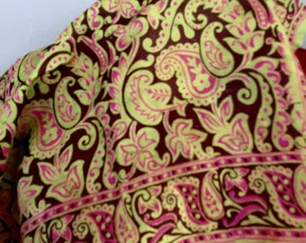 Vintage Made in India Silk Paisley Scarf