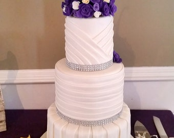 Pleated Faux Wedding Cake