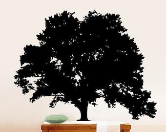 Vinyl Wall Art Decal Large Tree Silhouette Decoration