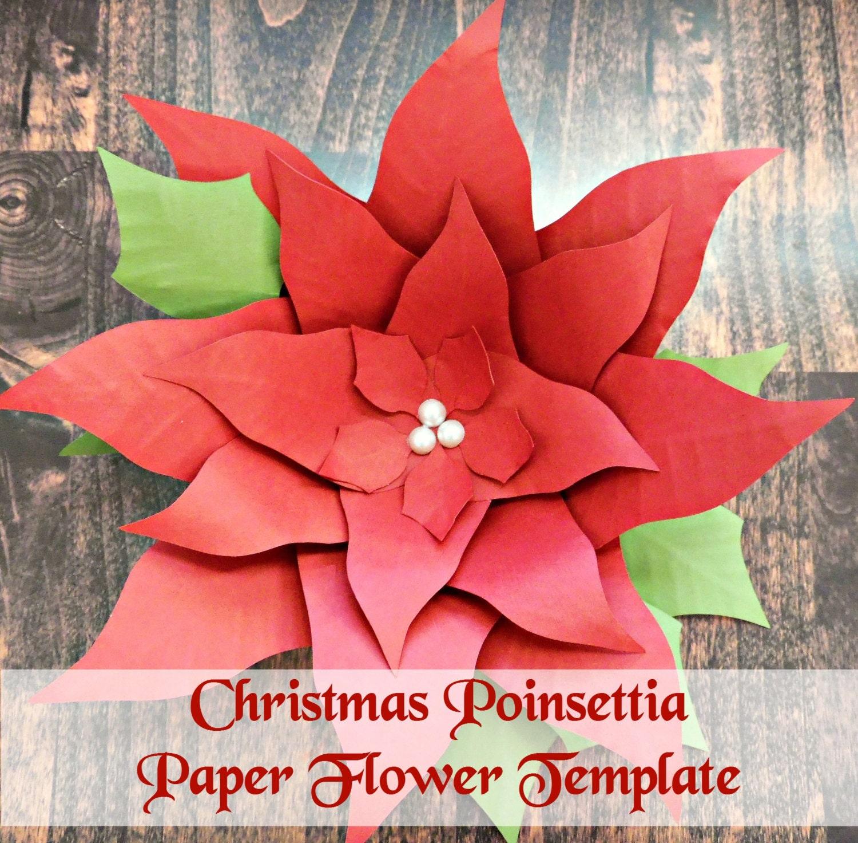 Christmas Giant Poinsettia Paper Flowers Diy Christmas