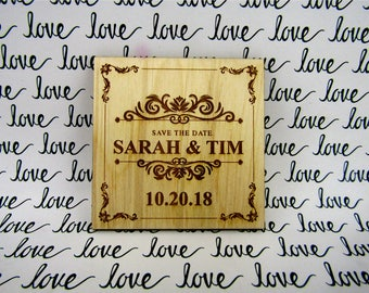 Save the Date Magnets Wedding Personalized Wedding Invitation Rustic Postcard Save the Date Invitation