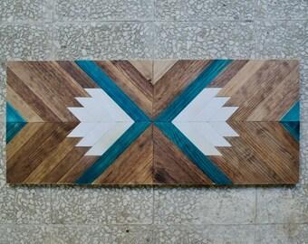 Wood Art, Wood Wall Decor, Reclaimed Wood Wall Art, Geometric Wood Art, Mosaic Wood Art