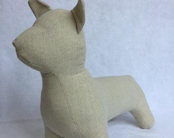 Welsh Corgi - queen's dog mannequin