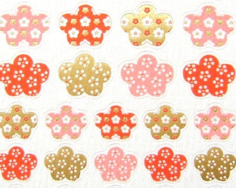 Plum Blossom Stickers Washi Paper  (S100)