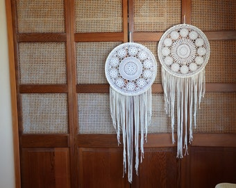Large Vintage Doily Dream Catcher, Unique, Vintage, Home Decor, room  decor, nursery, baby room, decoration
