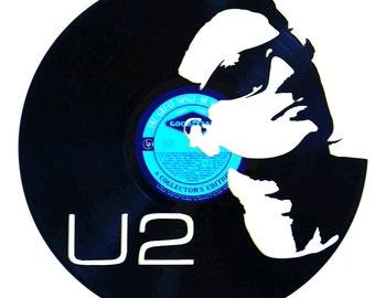 U2 Bono - Vinyl Record Art