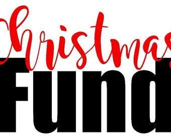 Christmas Fund Piggy Savings Bank Decal