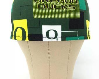 Oregon Ducks Men's Scrub Hat / Surgical Hats / Skull Caps / Chef Cap / Surgery / Chef's Cap / Chemo Hats / Men's Gift Ideas