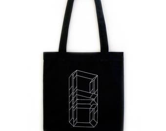 "Hand-printed ""Hyperrectangle"" Tote Bag"