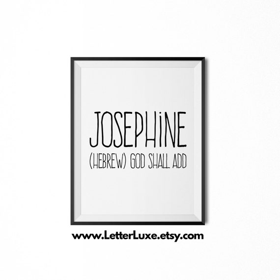 Josephine name meaning art printable baby shower gift negle Image collections