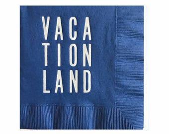 Maine serviettes Cocktail - Vacationland - serviettes de voyage - lot de 20