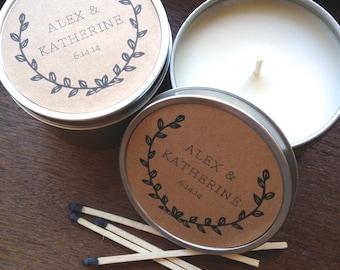 Custom Wedding Favor Candles - 8oz