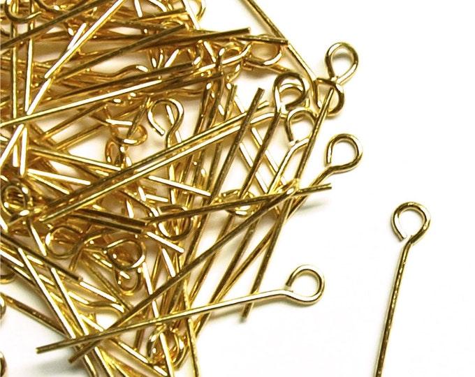 CLOSEOUT - Eye Pin, 1 in/21 ga, Gold - 500 Pieces (EPBGP-2521)