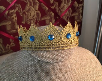 Baby Boy Lace Crown, photo prop, prince crown, cake topper, gender reveal, newborn photo, pregnancy announcement, birthday