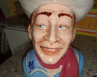 Amazing Signed Dated Rick Wisecarver Western Cowboy Roy Rogers Cookie Jar