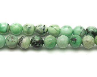 Stone beads - green Turquoise balls 6mm - 10pc 4558550033543 bag