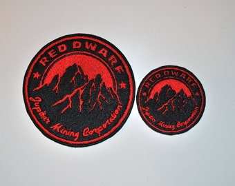 Red Dwarf Jupiter Mining Corporation Logo - Sci-Fi Cosplay Patch!