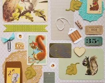 Nut Jobs Vintage Ephemera Collection | 25+ pieces | Mixed Media | Junk Journal | Scrap Pack | Inspiration Kit | Paper Arts & Crafts