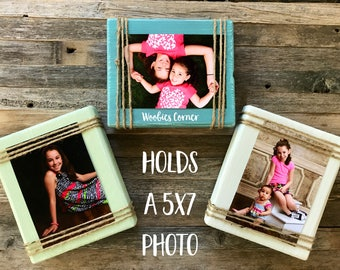 Rustic wood frame, Picture frame set, Rustic picture frame set, Wood picture frames, Farmhouse decor, Rustic home decor, 5x7 picture