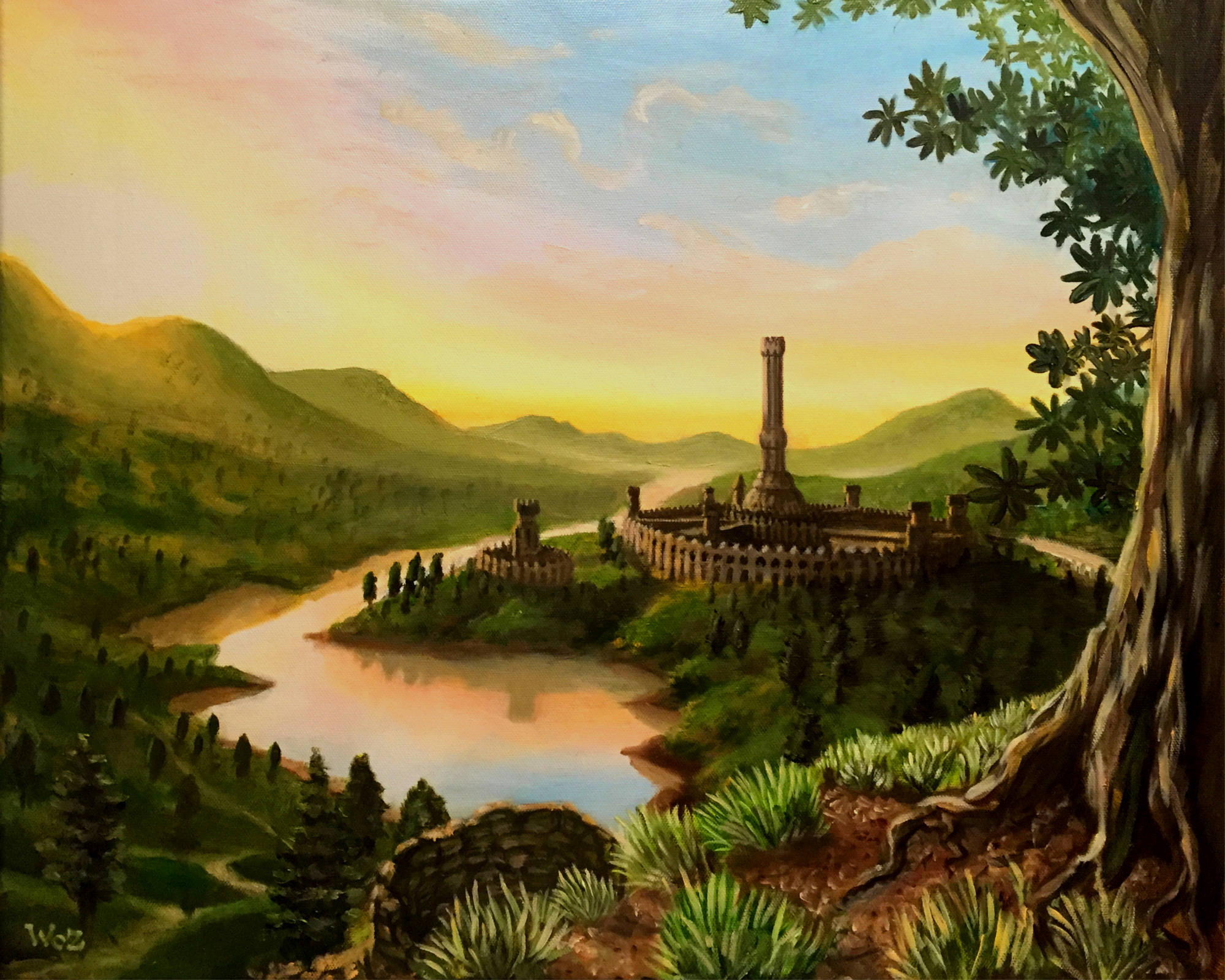 Oil Painting Commission The Elder Scrolls Hand Made Wall