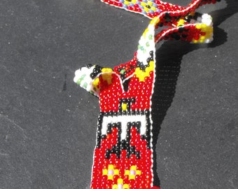 Woven seed beads CL.0752 Indian necklace