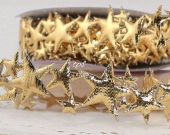 Star Ribbon, Metallic Gold Star Spray Ribbon