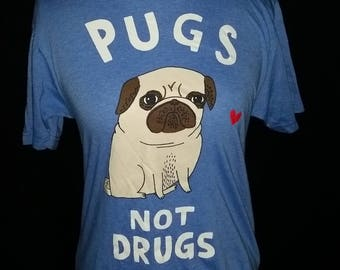 Funny hand cut pug shirt