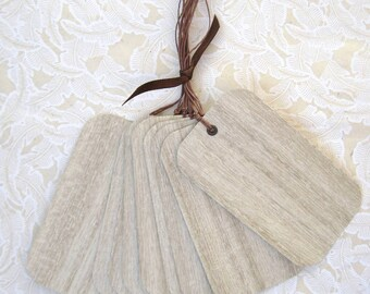 woodgrain wish tags- set of 10
