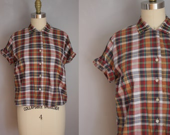1950s Starlight Plaid Top // Medium