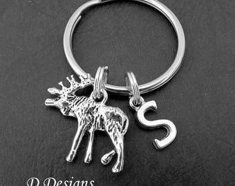 Moose Keyring, Moose KeyChain, Animal Keyring, Animal Key Chain, Personalised Keychain, Moose Gifts, Moose Jewellery
