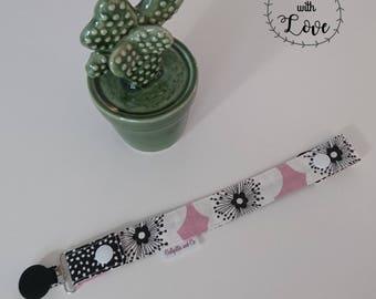 Pacifier (flowers pink-black)