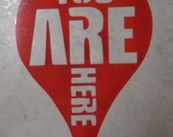 Custom metal sign You Are Here