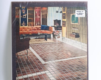 1967 Original Furniture Advertisement for Kentile Tile Floors from LOOK Magazine