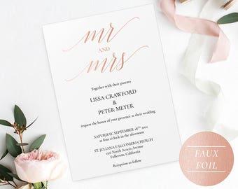 Wedding invite pdf Etsy