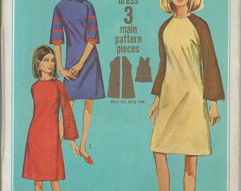 Vintage Simplicity Sewing Pattern 6730  Dress Size 12 Uncut Factory Folded