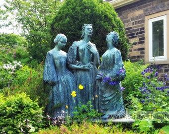The Bronte Sisters statue in Haworth England jpg Digital Download