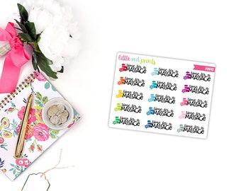 QUARTER SHEET - Time for a Massage Planner Stickers for the Erin Condren Life Planner, Script Sticker, Script Planner Sticker - [P0640]