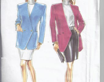 New Look Sewing pattern 6628 from 1990's. Misses Lined Jacket and Straight Skirt  Bust 31 1/2-40  UNCUT
