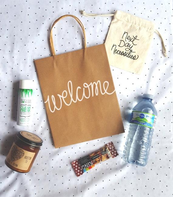 Destination Wedding Gift Bags: Welcome Kraft Gift Bags With Handles Destination Wedding