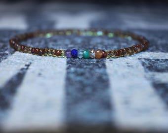 Chakra Bracelet, Mala Bracelet, Gemstone Bracelet, Birthstone Bracelet, Boyfriend Gift, Mens Gift for Men, Mens Bracelet, Birthday Gift