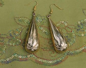 Vintage earrings, extravagant, Vintageschmuck