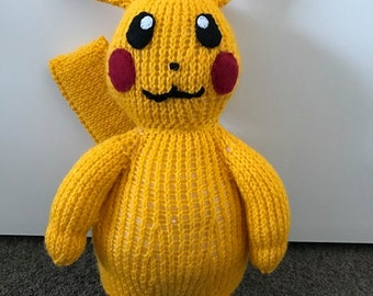 Pikachu Pokemon #25 Knitting Pattern PDF