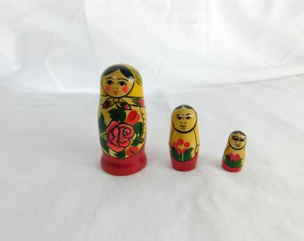 Hand Painted Russian Nesting or Stacking Dolls