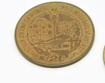 Vintage 1962 Seattle World's Fair Dollar Coin