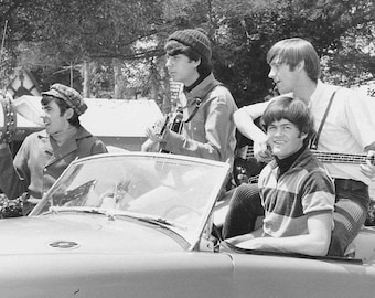 The Monkees Peter Tork, Micky Dolenz, Davy Jones, Michael Nesmith, Glossy Music Print  7X5, 10x8 or A4 Photo