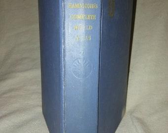1951 first edition Hammond's Complete World Atlas