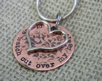 key chain personalized heart, new drivers license gift